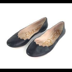 Sam Edelman Alaine Black Leather Ballet Flats 10